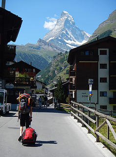 Leaving Zermatt