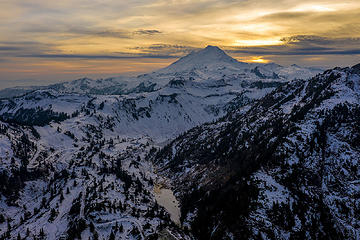 Mount Baker Aerial DJI Mavic Pro 2