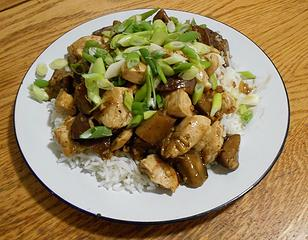 Chicken and Eggplant Stir-Fry 033020