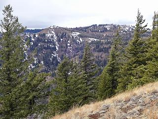 Toward Diamond Peak from Ray Ridge.