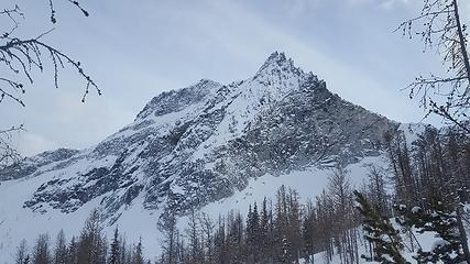 First views of the north face of Star Peak from below Fish Creek Pass