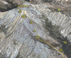 Robinson Route drawn on Google Earth