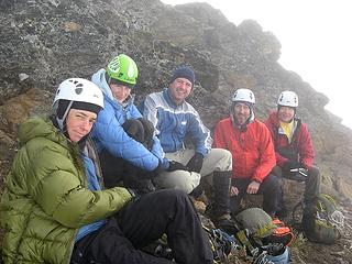 Huddled near Clark summit