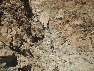 big chostone in the gully
