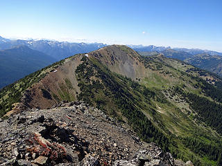 North Tatie from Tatie Peak, 7386.'