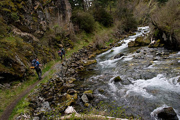 Hikers on the Rapid River Trail, Idaho.