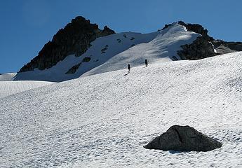 Erin & Suzanne heading toward the summit area