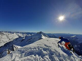 On the summit looking back towards Clark