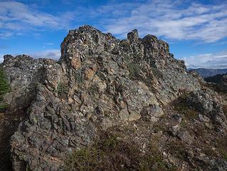 West Peak summit rocks