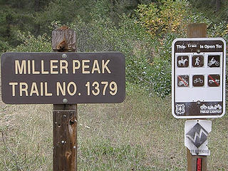 Mill Peak trailhead. Yes, dirt bikes are allowed and we saw 2 coming down as we were coming up.