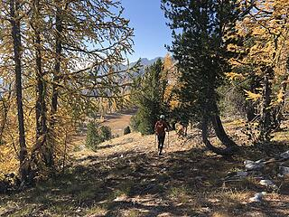 Leaving Baldy saddle to cross-country to Baldy summit