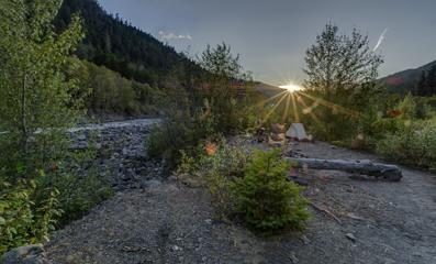 camp on the Elwha at Humes ranch