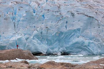 Hiker Meets Glacier