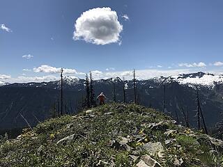 finally on the ridge