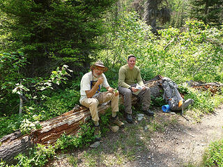 Rest break at Beauty Creek, just before trail starts to gain serious elevation