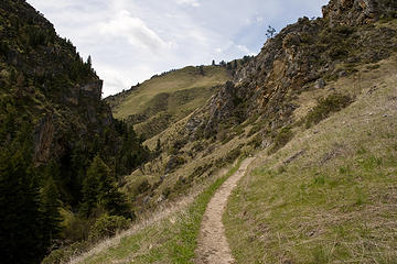 View along the Rapid River Trail, Seven Devils Mountains, Idaho.