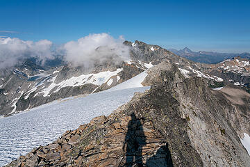 Hinman summit shadow selfie