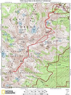 TOPO!map Seven Devils Traverse