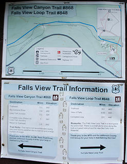 Falls View trail sign