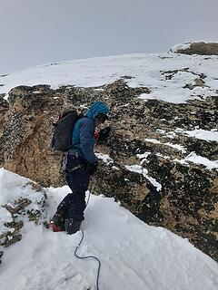The crux on the standard route