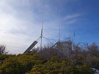Radio towers on the summit