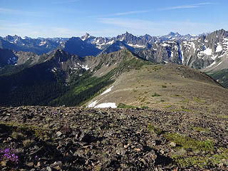 Looking down the south ridge of Syncline Mtn.
