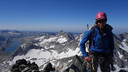 Eric on the summit of Wilson