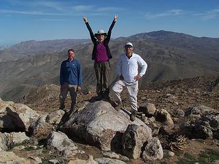 Daniel, BC, & MM atop Grapevine Mtn.
