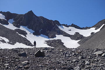 The N side of the saddle in September. 6800'+ saddle is on the right side of the photo.