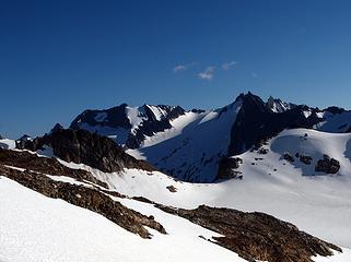 dome, spire, and dana glacier (all in distance)