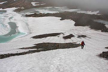 Greg below Chaney Glacier