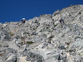 Fletcher and Jake downclimbing
