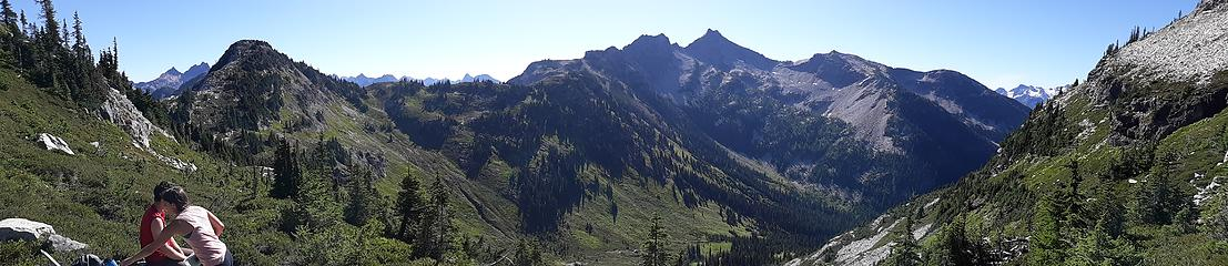 Looking back at Maple Pass