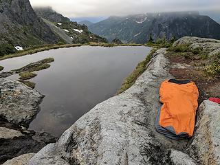 My bivy at the Infinity Tarn