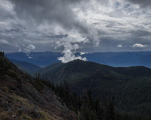 Clouds forming over Kachess Ridge