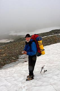 Greg below Chaney Glacier 2