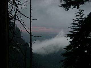The perils of lake bagging include not being able to view the sunset.  Or is that the peril of hiking around Mt Index?