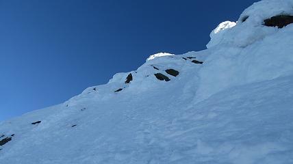 Climbing steep alpine ice