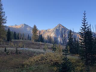 Meadow below Star Lake - Baldy summit the peak on the left