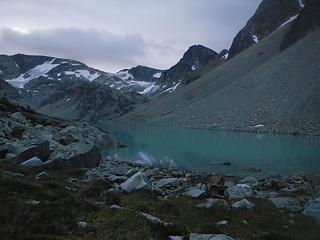 Wedgemount Lake predawn