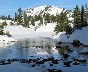 Alta Mountain above Channel between Christmas & Zen Lakes