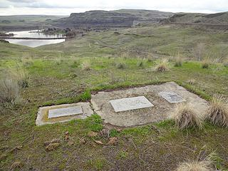 Old Bones Grave Site. 135 remains of Palouse Indians were moved here in 1964 when the Lower Monumental Dam raised the river level covering the original burial site.