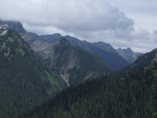 Anderson Pass from route up Fisher's Notch