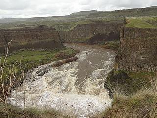 The Palouse River has been above flood stage this week.