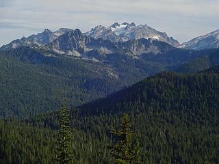 Mt Daniel at just under 8000' is the King County highpoint.
