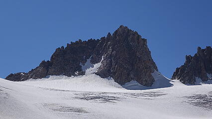 Koven finally comes into view; south ridge on left