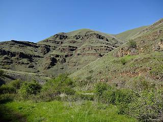 Canyon walls of Green Gulch.