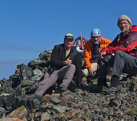 Rob, Niko and me on summit