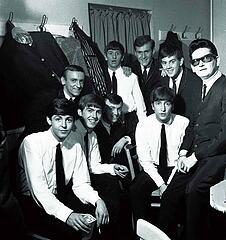 Paul McCartney Freddie Marsden George Harrison Gerry Marsden Ringo Starr Les Maguire John Lennon Les Chadwick Roy Orbison