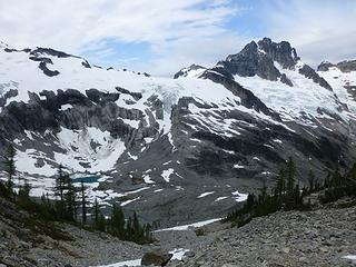 Ouzel Lake and Mt Redoubt